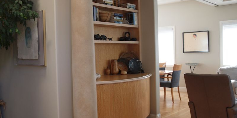Marin Custom Home Theater pic A/V cabinet